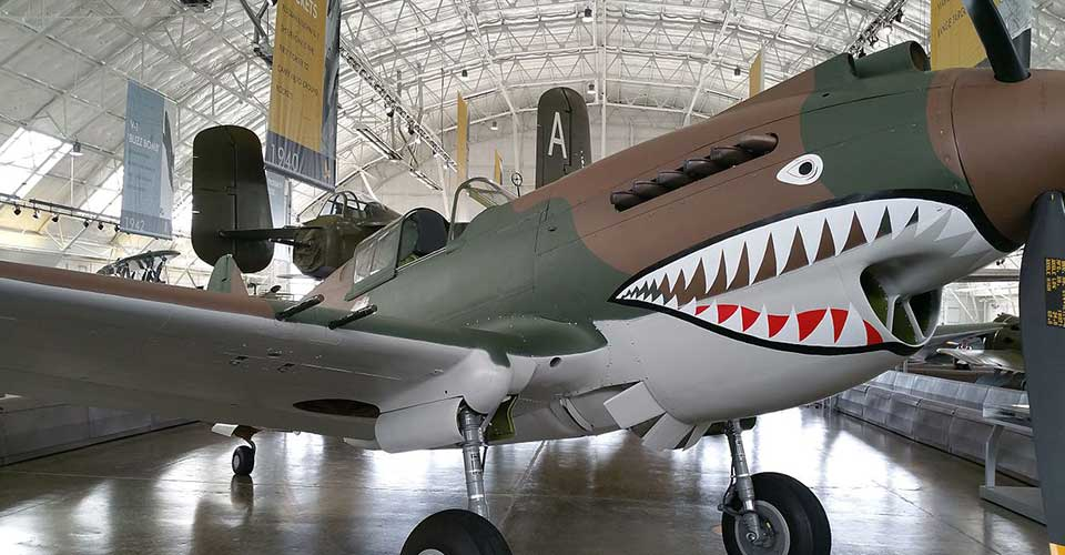 P-40C side view