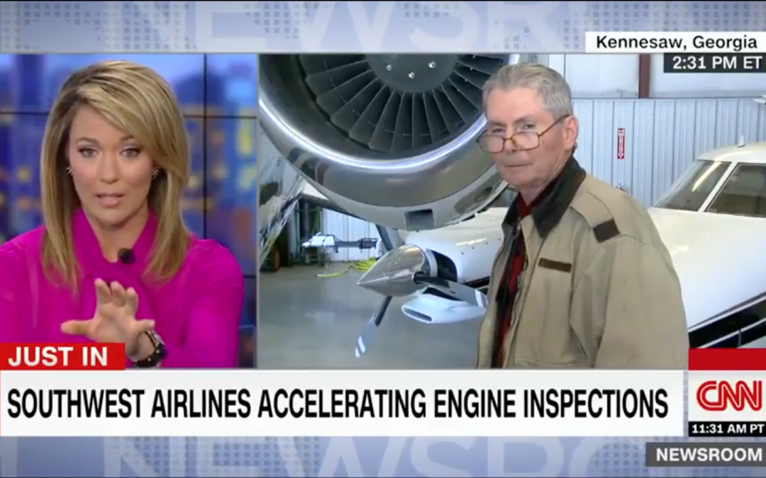 Interview on CNN about Southwest Flight 1380