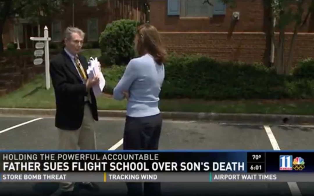 Interview on WXIA: Father sues flight school over Son's death.